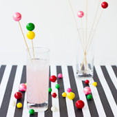 DIY Gumball Drink Stirrers