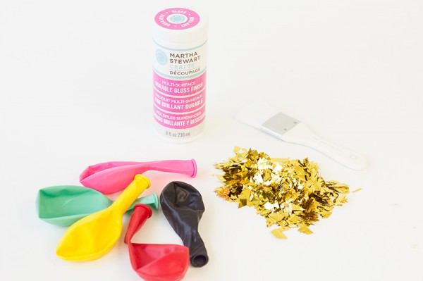 Confetti Dipped Balloons Supplies