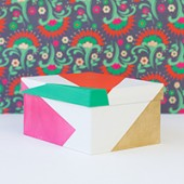 DIY Color Blocked Gift Boxes for The Sweetest Occasion