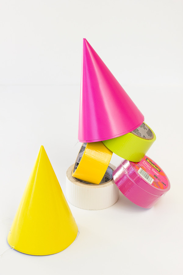 DIY Monster Party Hats with Duct Tape