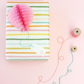 DIY Honeycomb Balloon Gift Toppers