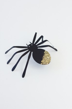 DIY Giant Glittered Spiders