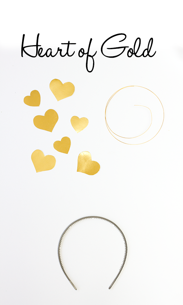 DIY Heart of Gold Costume Supplies