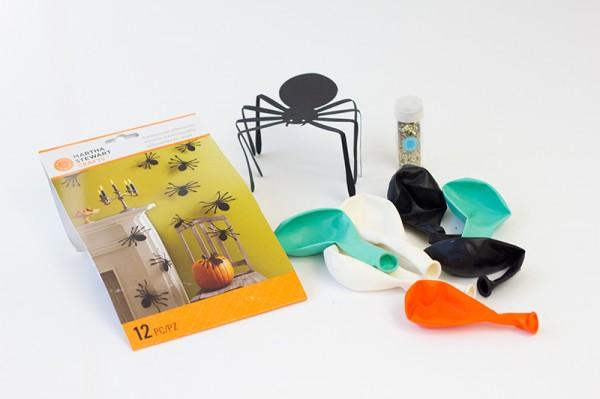 Hanging Spider Ballloons DIY Supplies