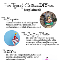 Five Types of Costume DIY-ers (+ Costumes To Make Tonight!)