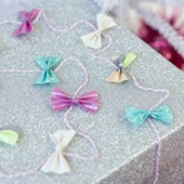DIY Tiny Duct Tape Bow Gift Garland