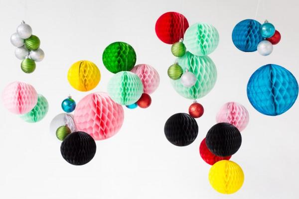 DIY Honeycomb Ornament Chandeliers4
