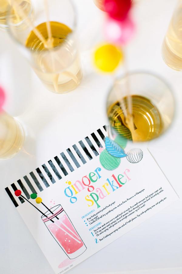 Free Printable Cocktail Recipe Card