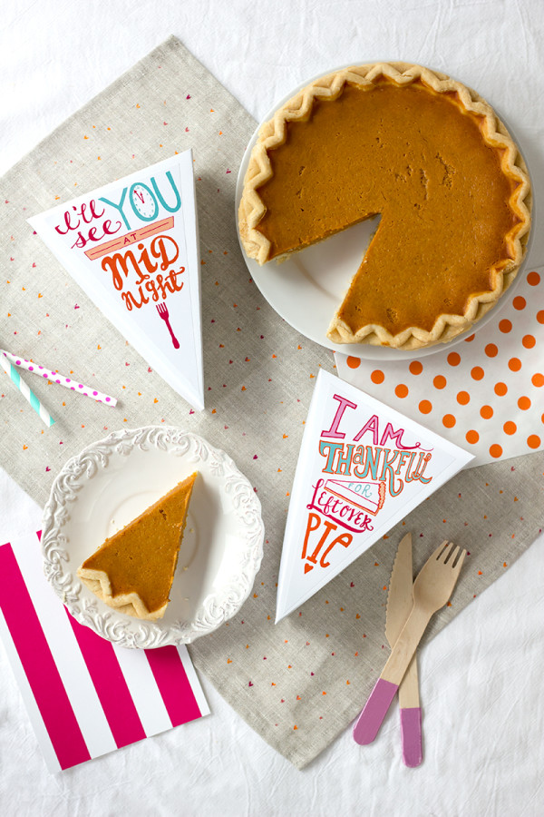 Free Printable Leftover Pie Labels for Thanksgiving