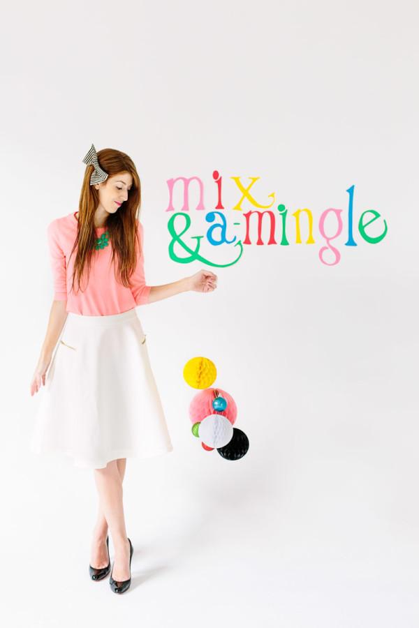 DIY Mix & A-Mingle Holiday Sign