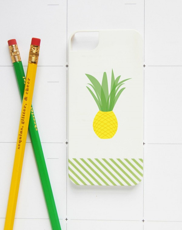 Pineapple iPhone Case - Studio DIY + Pencil Shavings Studio