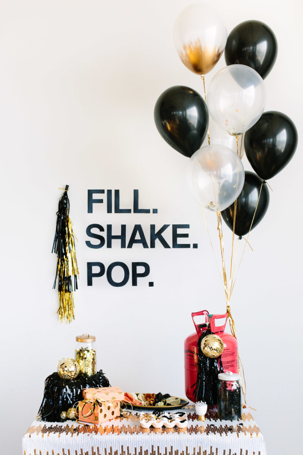 DIY Confetti Balloon Bar