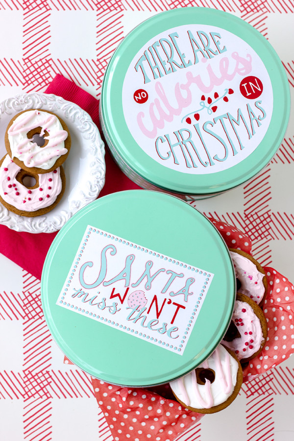 Free Cookie Tin Printables for Christmas