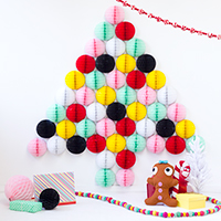 DIY Honeycomb Christmas Tree