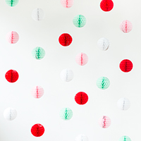 DIY Honeycomb Holiday Photo Backdrop (+ A Minted Giveaway!)