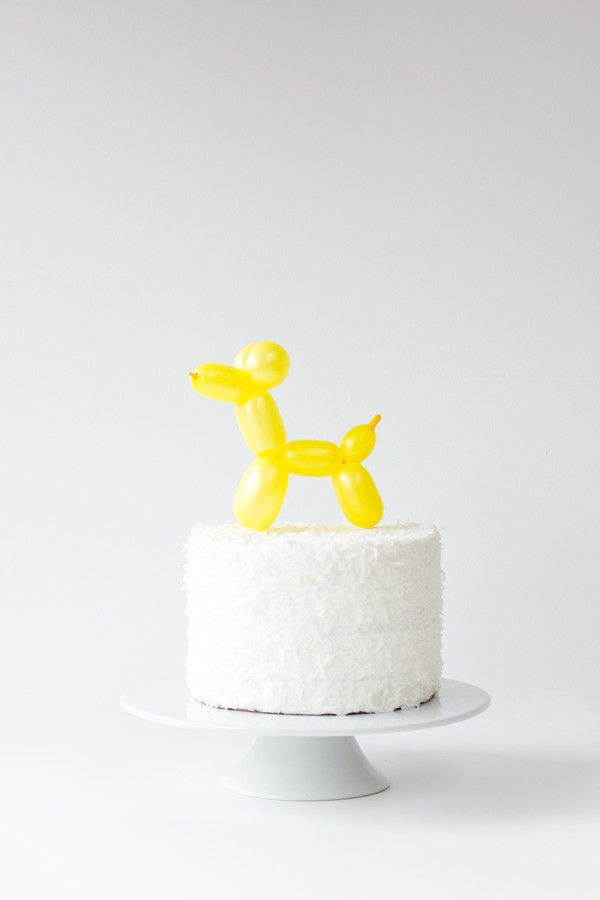DIY Balloon Animal Cake Topper