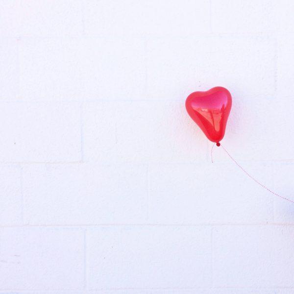 Mini Red Heart Balloon