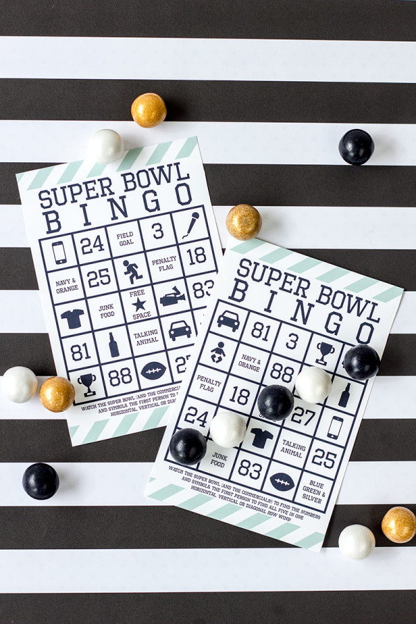 Super Bowl Bingo for 2014