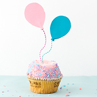 DIY Balloon Cupcake Toppers