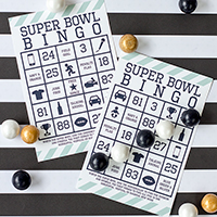 Free Printable Super Bowl Bingo
