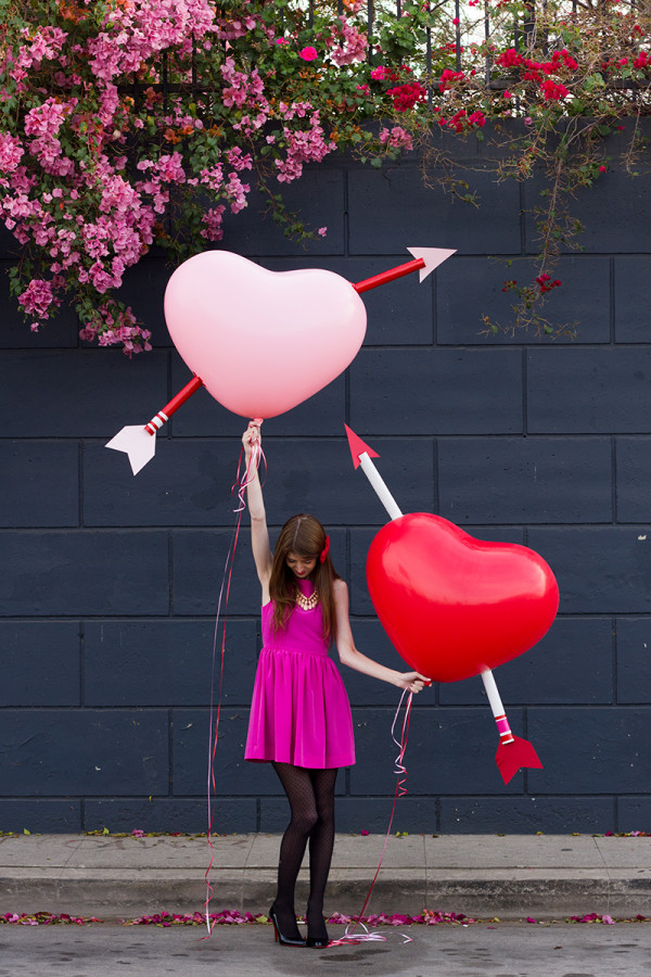 Cupid's Arrow Balloons via Studio DIY