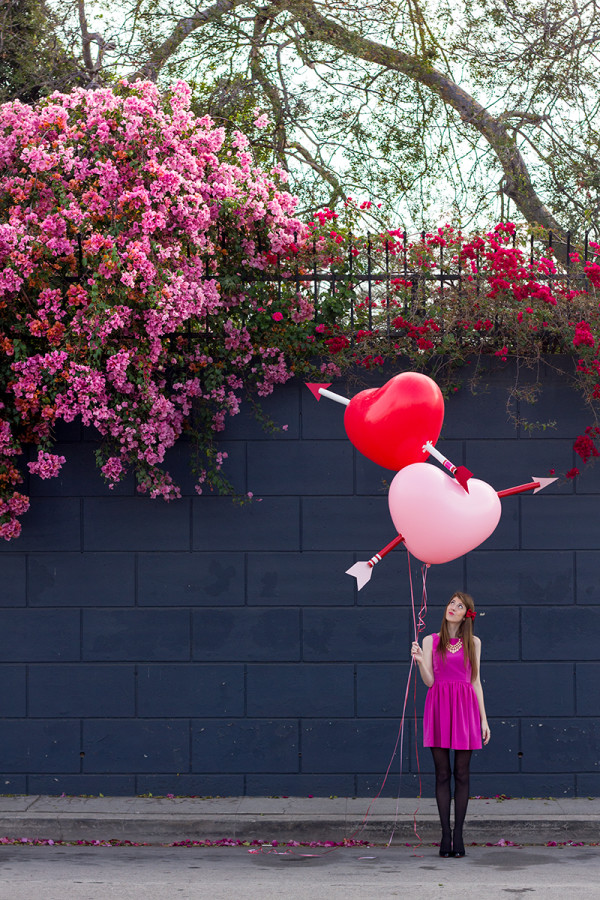 DIY Giant Cupid's Arrow Balloons