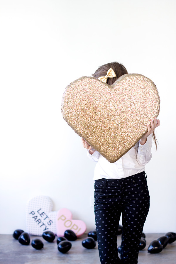 DIY Plush Sequined Heart