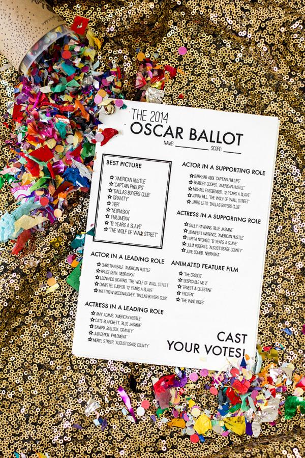 Free Printable 2014 Oscar Ballot