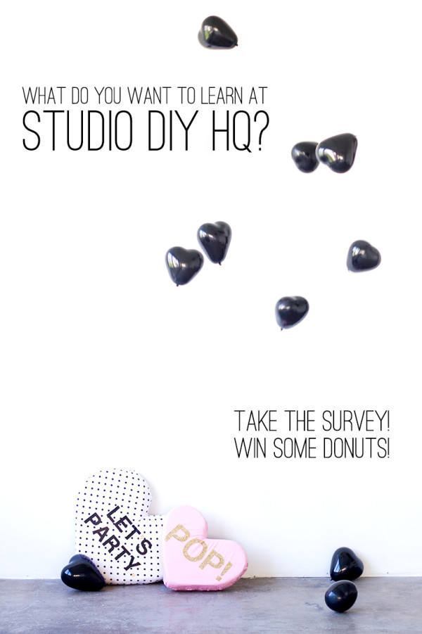 Studio DIY HQ Workshop Survey