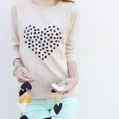DIY Jeweled Heart Sweatshirt