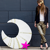 DIY Giant Moon Piñata for The Land of Nod!