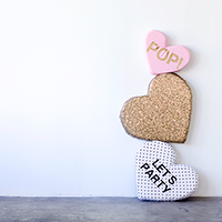 DIY Plush Conversation Hearts