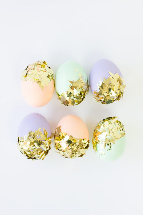 DIY Confetti Dipped Easter Eggs1