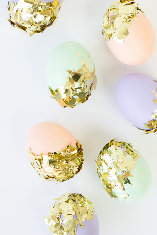 DIY Confetti Dipped Easter Eggs