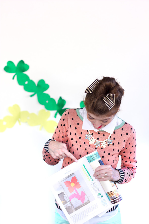 DIY Shamrock Streamers by Studio DIY in Martha Stewart Living