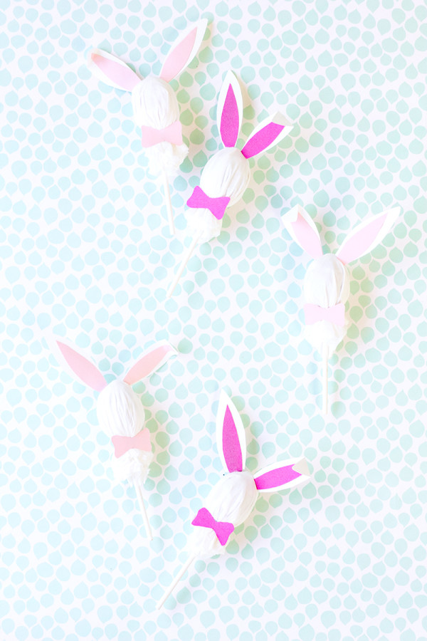 DIY Easter Bunny Lollipops