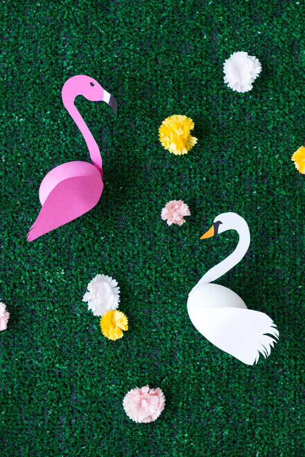 DIY Swan + Flamingo Easter Eggs
