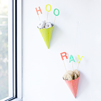 DIY Party Hat Treat Cones