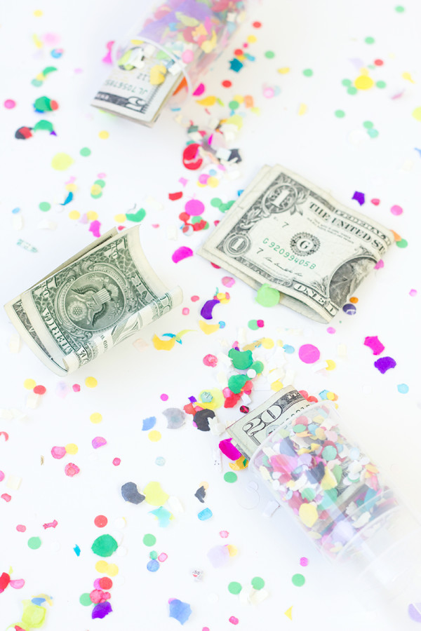 DIY Surprise Money Confetti Poppers