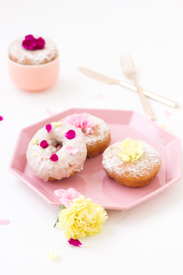 Edible Flower Donuts