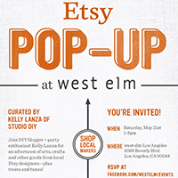 An Etsy Pop-Up at West Elm Curated by Studio DIY!