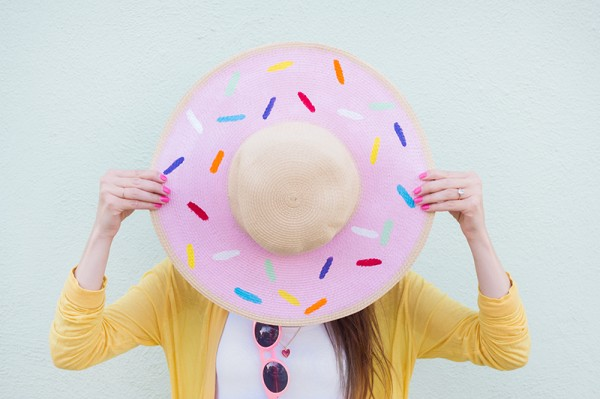 DIY Donut Floppy Hat