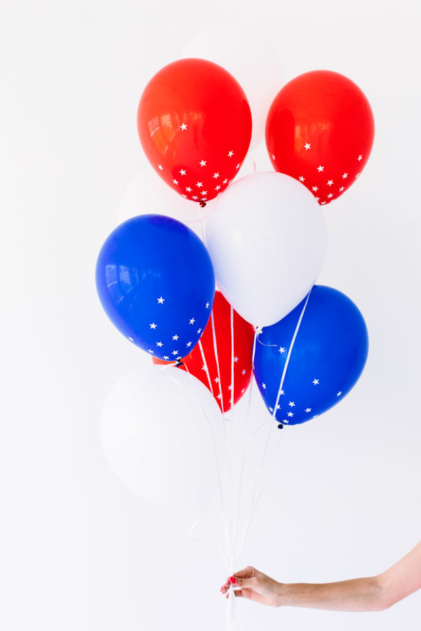 DIY Star Spangled Confetti Balloons