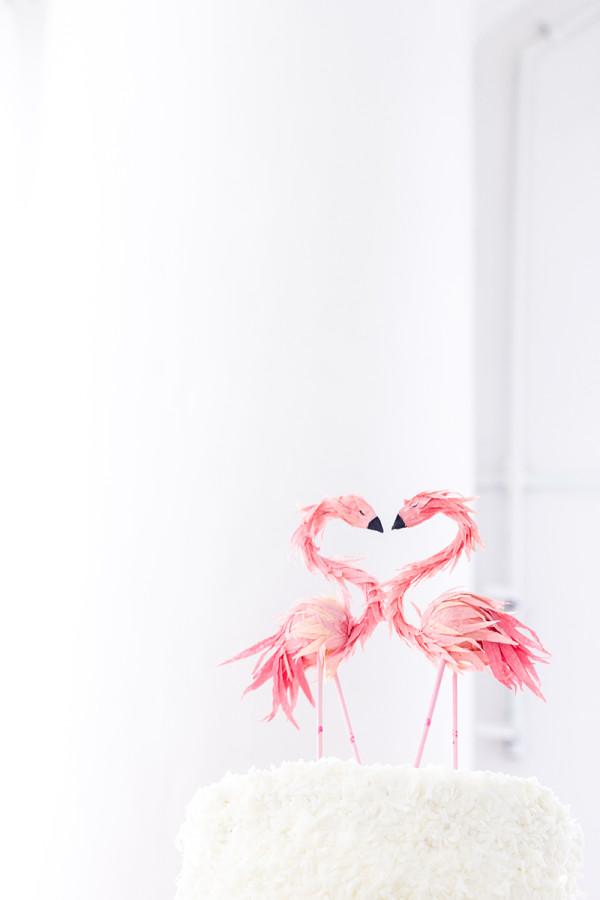Flamingo Cake Topper