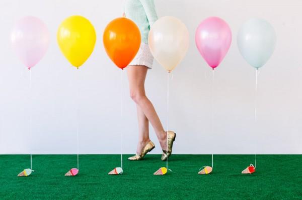 Ice Cream Cone Balloon Weights DIY