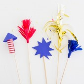 DIY Firework Drink Stirrers
