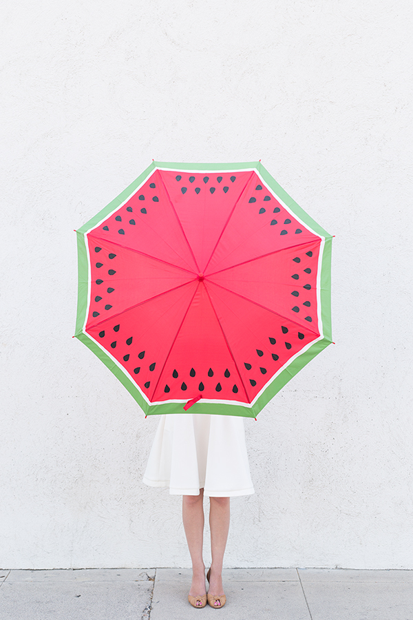 DIY Watermelon Umbrella