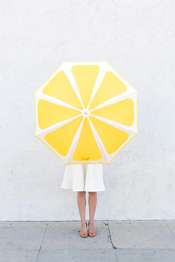 DIY Lemon Slice Umbrella