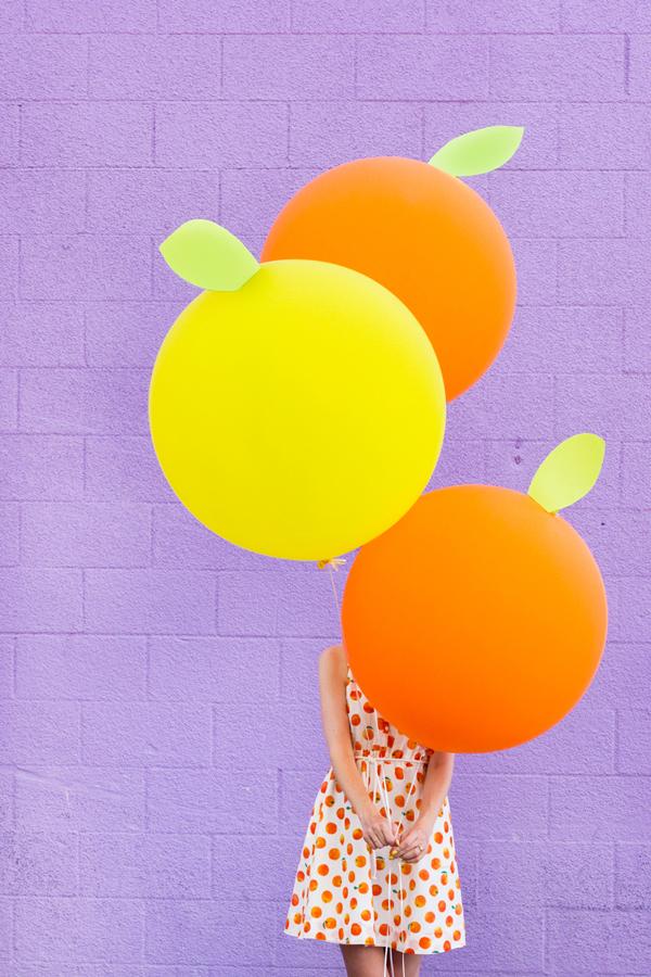DIY Giant Citrus Balloons