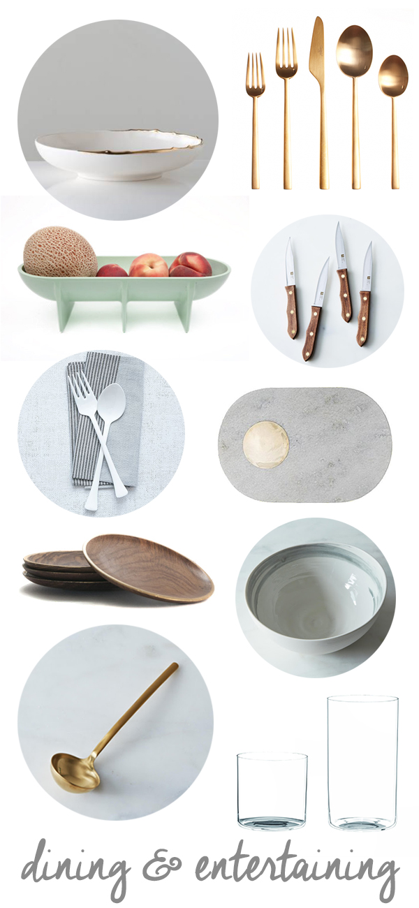 Non-Traditional Dining and Entertaining Pieces for a Wedding Registry